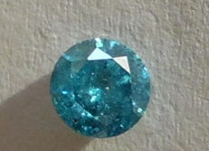 0.49 ct Fancy Vivid Blue SI3 Diamant - IGL certificaat