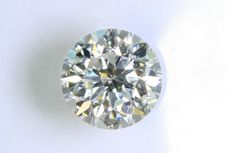 0.47 ct – Brilliant cut diamond –  F, VS2