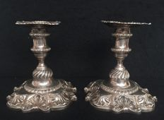 Pair of candlesticks, United Kingdom, City of London,19th century