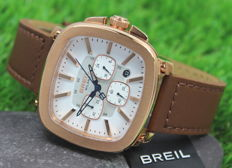 Breil Milano Men's Chronograph Brown Leather Strap Watch - New & Mint Condition