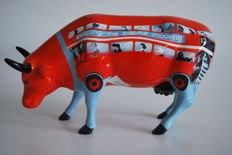 CowParade - Annabel Church Smith - type Cow Bus - medium with box and tag and retired