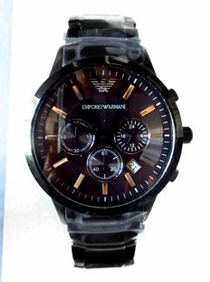 Emporio Armani AR2454. Chronograph, men's wristwatch, never worn.  Year: 20