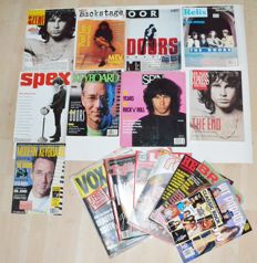 The Doors > Lot of 16 vintage Music Magazines - 9 Cover Stories 1971 - 1994