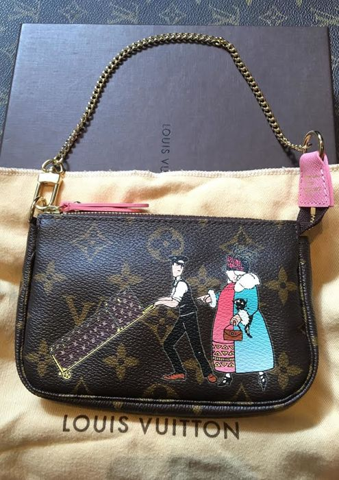 Louis Vuitton - Illustrated mini clutch - Limited edition - Catawiki 2466a8eec40c4