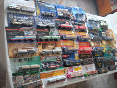 Collection - brewery trucks, advertising trucks, some vintage trucks and special editions, in original packaging, 80 parts - 1997/2006
