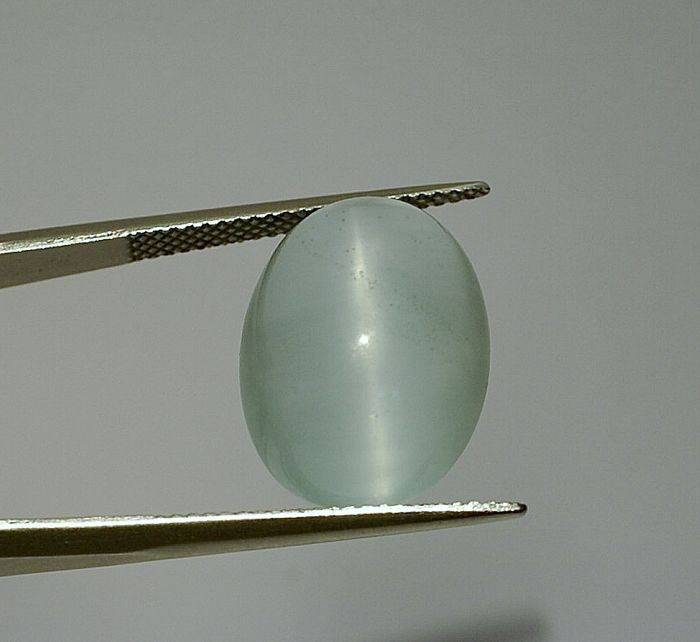 Aquamarine Cats Eye, blue - 13.96 ct
