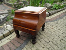 Victorian mahogany toilet furniture with pull-out footrest, England, late 19th century