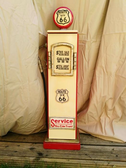 Route 66 - Retro gasolin pump locker - Hoogte 87 cm.