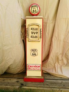 Route 66 - Retro gasoline pump locker - Height 87 cm.