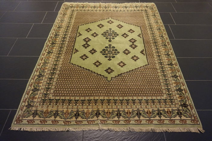 Beautiful antique Oriental carpet Berber rug made by nomads, 150 x 190 cm made in
