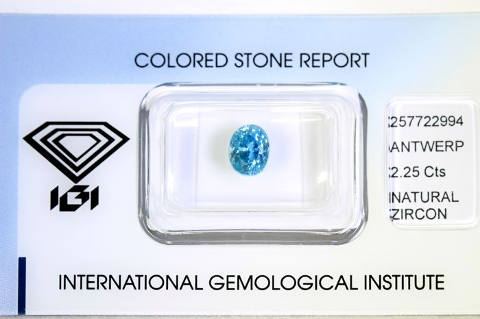 Blue Zircon - 2.25 ct
