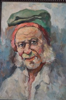 "Unknown artist signed  - "" campino "" oil on panel - Portugal"