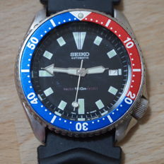 Seiko - Scuba Divers 'Pepsi' bezel, model 7002-7000 Large Gents' Wrist Watch - 1990s'