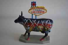 CowParade - John Main/Jim Severson - type Welcome to Fabulous Las Vegas - medium - retired with box and tag