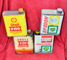 Lot of 4 oil cans