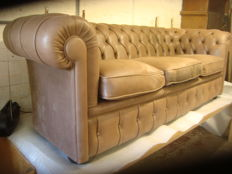 A leather chesterfield style sofa, early 21st century