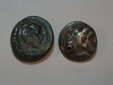 Ancient Greece - KINGDOM OF MACEDONIA - Lot of 2 - Alexander the Great (circa 336-323 BC).