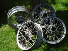 A Set of spoke rims for a British Roadster (Triumph, MG, etc.) 4J x 15