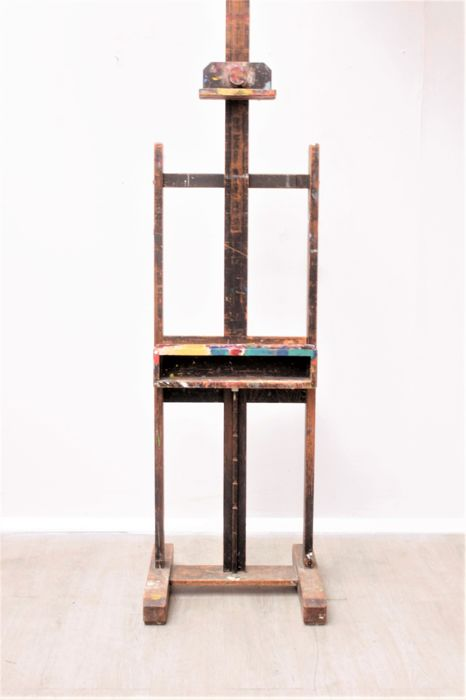 Large vintage painter's easel