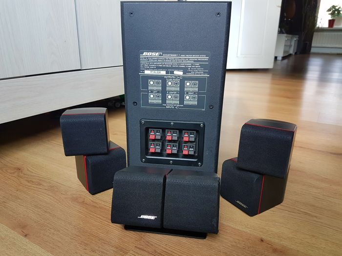 bose acoustimass 7 home theatre speaker system red line catawiki. Black Bedroom Furniture Sets. Home Design Ideas
