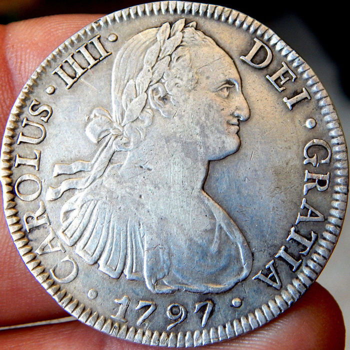 Spain – Carlos IV (1788-1808) – 8 Reales 1797 mint of Mexico FM – Silver
