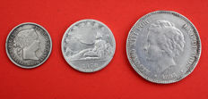 Spain - 3 pieces in silver 19th century