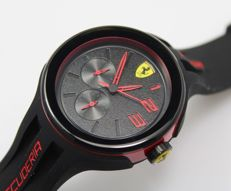 Scuderia Ferrari Mens FXX Black Stainless Steel Watch - New & Perfect Condition