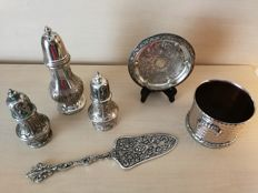 Group of 6 silver plated items with very nice editing.