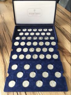 Cook Islands – 10 & 50 Dollars 1990/1993 – collection '500 Years of America' (52 coins) - silver
