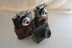 "Lot is presented from two cameras ""Smena"" аnd one not working camera of unknown production. Production of GOMZ USSR (Russia) in 1952-1957."