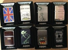 Zippo 8 different lighters type Planeta.