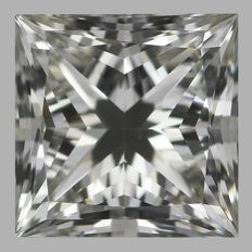0.50ct Princess Cut  Brilliant Diamond I VS2  IGI  -Original Image-10X - Serial# 2068
