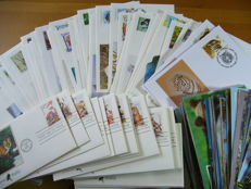 WWF & American Wildlife – Collection including 190 FDC's and 107 Maximum cards