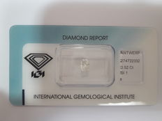 0.52ct Radiant Brilliant Diamond I SI1 IGI - Low Reserve Price - #2072