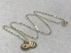Necklace in 18 kt yellow gold with a pendant shaped like the Pilgrim's Scallop, Apostle Santiago – 40.5 cm