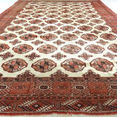 "Bukhara - 300 x 215 cm - ""eye-catcher - finely knotted Persian rug in beautiful condition"" - with certificate"