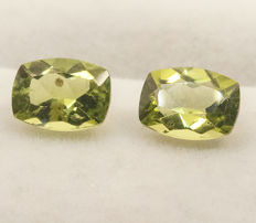 Peridotes (pair) - 3,01 ct - No Reserve Price