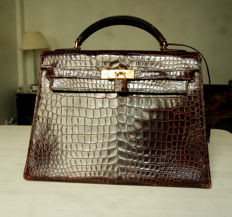 Hermès – Kelly 32 Crocodile handbag – Vintage