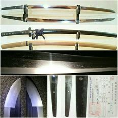 Japanese samurai sword signature of Kanesato Year 1600