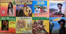 Lot of 8 LP Albums Dennis Brown, Bob Marley, Bunny Wailer and more