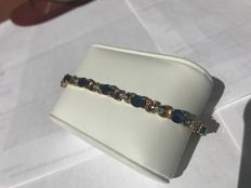 Diamond & Sapphires gold bracelet