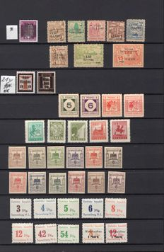 Deutsche Post – allied occupation Soviet zone 1945-48 and local issues special colours and printing errors, many BPP verified