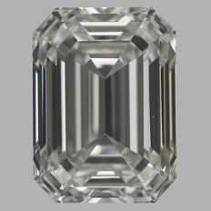0.50 ct Emerald Cut Brilliant Diamond H VVS2  IGI -Original Image-10X - Serial# 2070