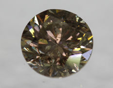 0.80 Ct Vivid Brown SI1 Round Brilliant ** low reserve price **
