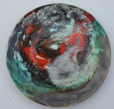 Agenore Fabbri - Ceramic Plate, Abstract Subject