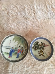 Two porcelain plates - China - second half of the 20th century.