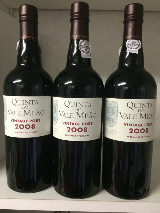 2008 Vintage Port Quinta do Vale Meao - 3 flessen