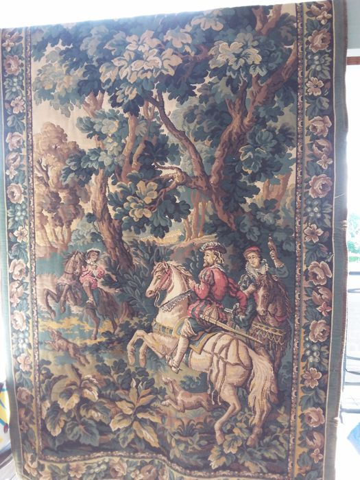 Large medieval tapestry, first half 20th century