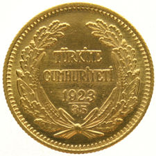 Turkey - 100 Kurush 1923/35 'Atatürk' - gold