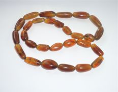 Natural Indonesian Amber necklace, 73 grams